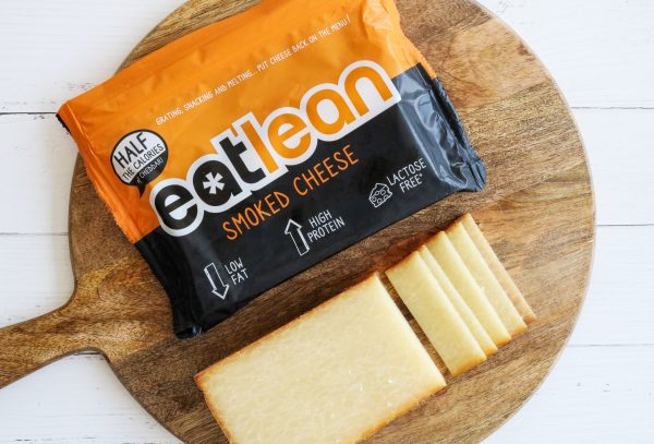 Eatlean Smoked Cheese Block and Packaging
