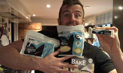 Eatlean Nutritionist Ben Coomber holding Eatlean protein cheese