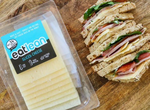 Eatlean Sliced Cheese and ham sandwiches