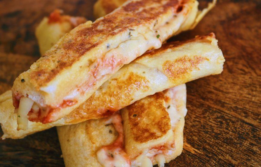 Healthy Cheesy Breakfast Pizza Rolls using eatlean protein cheese