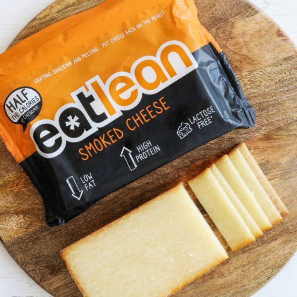 Eatlean Smoked Cheese Block and Packaging