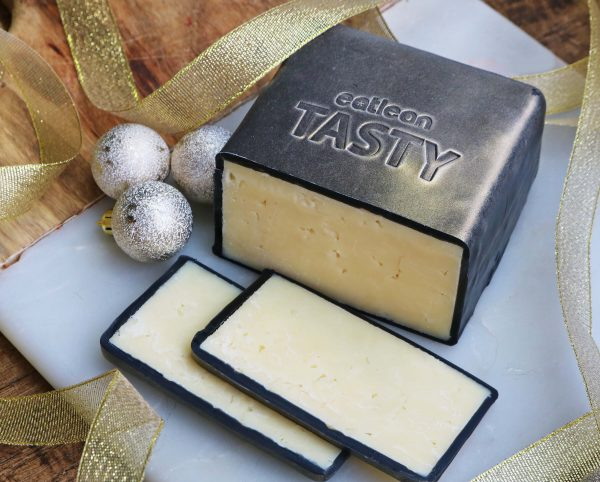 Low fat, high protein, vegetarian, lactose free, low calories, gluten free cheese truckle tasty