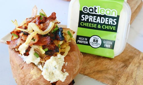 Low fat, low calorie, high protein spread cheese & chive