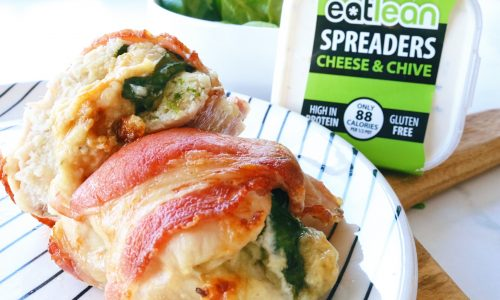 gluten free, vegetarian Low fat, low calorie, high protein spread cheese & chive