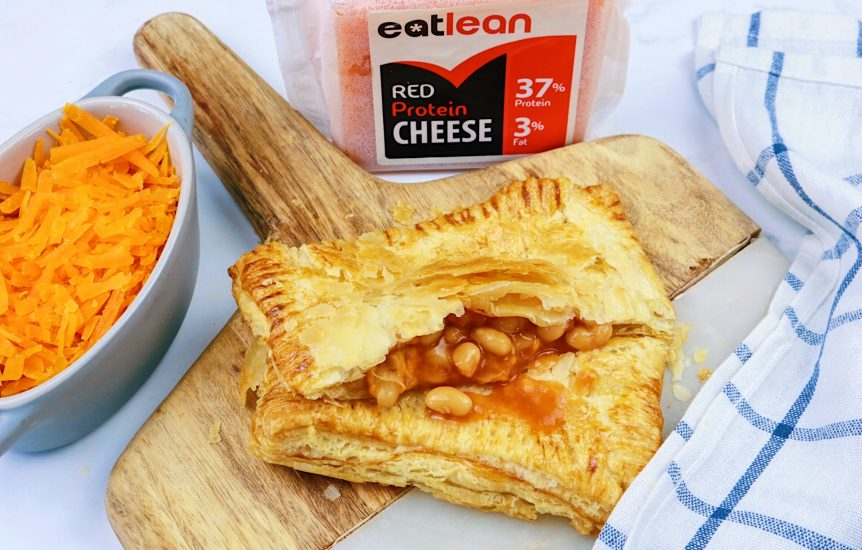 Greggs bake, low fat cheese and bean bake low fat high protein cheese puff pastry beans vegetarian