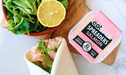 Low fat, low calorie, high protein spread salmon