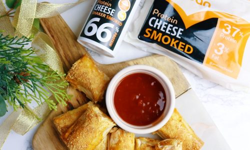 low fat, low calorie, cheesy sausage rolls