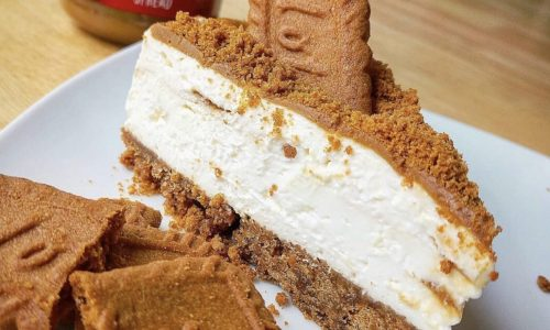 low fat low calorie high protein biscoff cheesecake