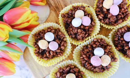 Easter Weekend Chocolate Cheesecake Nests