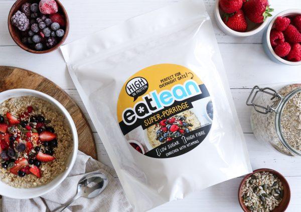 Eatlean Super Porridge with breakfast fruit