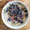 Super Porridge with blueberries