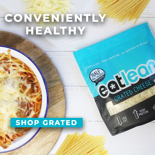 eatlean grated cheese low calorie high protein