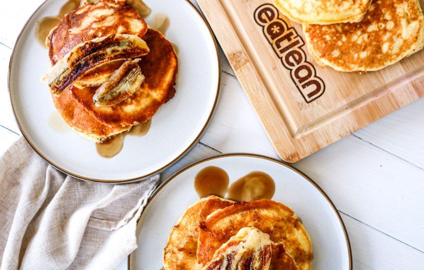 Banana and chocolate pancakes