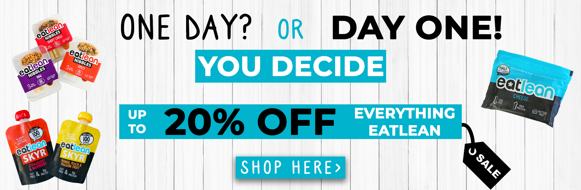up to 20% off everything eatlean