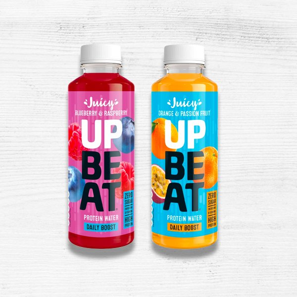 Upbeat protein water